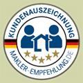 Qualitätssiegel makler-empfehlung.de für Nicole Siedersberger-King